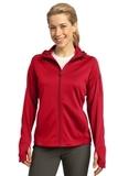 Women's Sport-tek Tech Fleece Full-zip Hooded Jacket True Red Thumbnail