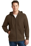 Super Heavyweight Full-zip Hooded Sweatshirt Brown Thumbnail