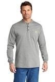 Carhartt Long Sleeve Henley T-Shirt Heather Grey Thumbnail