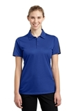 Women's Active Textured Colorblock Polo True Royal with Grey Thumbnail