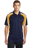 Tricolor Micropique Color Block Polo True Navy with Gold and White Thumbnail