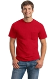 Ultra Cotton 100 Cotton T-shirt With Pocket Red Thumbnail