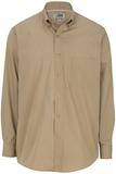 Men's Cotton Twill Rich Long Sleeve Twill Shirt Tan Thumbnail