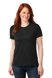 Women's 50/50 Cotton / Poly T-shirt Jet Black Thumbnail