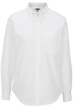 Women's Dress Button Down Oxford LS White Thumbnail