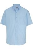 Men's Easy Care Poplin Shirt SS Blue Thumbnail