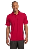 Micro-mesh Colorblock Polo True Red with White Thumbnail