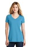 Women's New Era Heritage Blend VNeck Tee Sky Blue Thumbnail