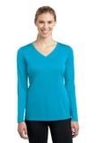 Women's Long Sleeve V-neck Competitor Tee Atomic Blue Thumbnail