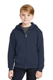 Youth Full-zip Hooded Sweatshirt Navy Thumbnail