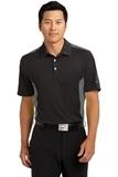 Nike Golf Dri-fit Engineered Mesh Polo Black with Dark Grey Thumbnail