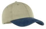 2-tone Pigment-dyed Cap Khaki with Navy Thumbnail