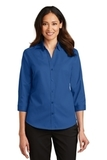 Women's 3/4Sleeve SuperPro Twill Shirt True Blue Thumbnail