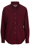 Women's Poplin Shirt LS Wine Thumbnail