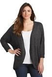 Women's Marled Cocoon Sweater Black Marl Thumbnail