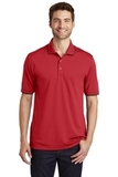 Dry Zone UV MicroMesh Tipped Polo Rich Red with Deep Black Thumbnail