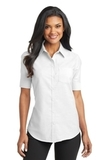 Women's Short Sleeve Superpro Oxford Shirt White Thumbnail