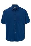 Men's Button Down Poplin Shirt SS Royal Thumbnail