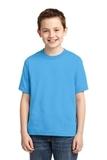 Youth 50/50 Cotton / Poly T-shirt Aquatic Blue Thumbnail