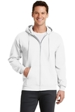 7.8-oz Full-zip Hooded Sweatshirt White Thumbnail
