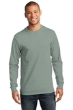 Essential Long Sleeve T-shirt Stonewashed Green Thumbnail
