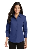 Women's 3/4-sleeve Easy Care Shirt Mediterranean Blue Thumbnail