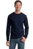 Moisture Management 50/50 Cotton / Poly Long Sleeve T-shirt Navy Thumbnail