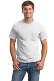 Ultra Cotton 100 Cotton T-shirt With Pocket White Thumbnail