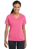 Women's Racermesh V-neck Tee Bright Pink Thumbnail