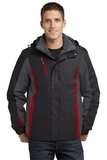 Colorblock 3-in-1 Jacket Black with Magnet and Signal Red Thumbnail