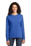 Women's Long Sleeve 5.4-oz 100 Cotton T-shirt Royal Thumbnail