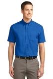 Tall Short Sleeve Easy Care Shirt Strong Blue Thumbnail