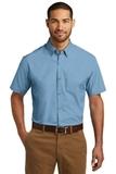 Short Sleeve Carefree Poplin Shirt Carolina Blue Thumbnail