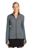 Women's Nike Golf Therma-FIT Hypervis Full-Zip Jacket Dark Grey with Black Thumbnail