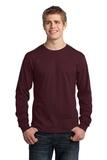 Long Sleeve 5.4-oz. 100 Cotton T-shirt Athletic Maroon Thumbnail
