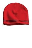 Sport-tek Spectator Beanie True Red with Black Thumbnail