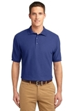 Extended Size Silk Touch Polo Shirt Mediterranean Blue Thumbnail