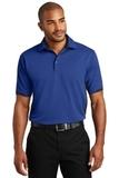 Dry Zone Colorblock Ottoman Polo Shirt Royal with Black Thumbnail