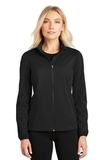 Women's Active Soft Shell Jacket Deep Black Thumbnail