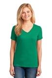 Women's 5.4-oz 100 Cotton V-neck T-shirt Kelly Thumbnail