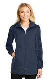 Women's Active Hooded Soft Shell Jacket Dress Blue Navy Thumbnail