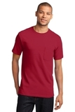 100 Cotton T-shirt With Pocket Red Thumbnail
