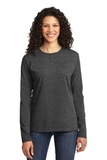 Women's Long Sleeve 5.4-oz 100 Cotton T-shirt Dark Heather Grey Thumbnail
