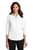 Women's 3/4Sleeve SuperPro Twill Shirt White Thumbnail