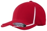 Flexfit Performance Colorblock Cap True Red with White Thumbnail