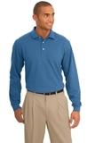 Rapid Dry Long Sleeve Polo Shirt Riviera Blue Thumbnail