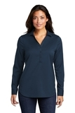 Ladies City Stretch Tunic River Blue Navy Thumbnail