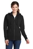 Women's Classic Full-Zip Hooded Sweatshirt Jet Black Thumbnail