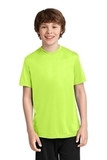 Youth Essential Performance Tee Neon Yellow Thumbnail