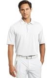 Nike Golf Shirt Dri-FIT Mini Texture Polo White Thumbnail